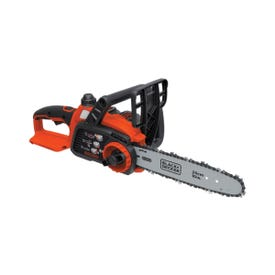 Black+Decker LCS1020 Chainsaw, 2 Ah, 20 V Battery, Lithium-Ion Battery, 10 in Cutting Capacity, 10 in L Bar/Chain