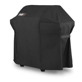 Weber 7139 Premium Grill Cover, 51 in W, 17.7 in D, 42 in H, Polyester, Black
