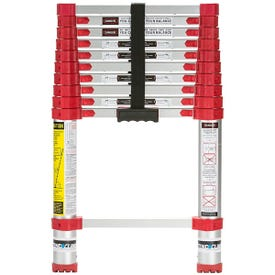 XTEND+CLIMB Home Series 760P Telescoping Ladder, 14-1/2 ft Max Reach H, 11-Step, 250 lb, 1-1/2 in D Step, Aluminum