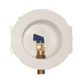 EASTMAN 60237 Ice Maker Outlet Box, Round, Brass