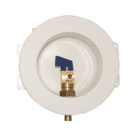 EASTMAN 60238 Ice Maker Outlet Box, Round, Brass