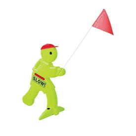 STEP2 864804 Visual Warning Signal, Fluorescent Green, For: Driveway or Yard