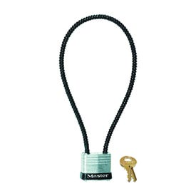 Master Lock 107DSPT Gun Lock with Padlock, Keyed Different Key, Cable Shackle, 0.22 in Dia Shackle, Steel Body