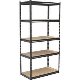 Storage Concepts SCB1505W Boltless Shelving Unit, 4000 lb Capacity, 5-Shelf, 36 in OAW, 18 in OAD, 72 in OAH
