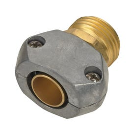 Landscapers Select GC534 Hose Coupling, 5/8 to 3/4 in, Male, Brass and zinc, Brass and silver