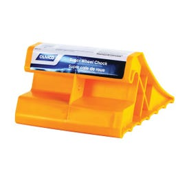 CAMCO 44492 Super Wheel Chock, Plastic, Yellow, For: Tires Up to 29 in