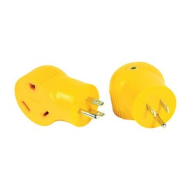 CAMCO 55325 Power Grip Adapter, 30 A Female, 15 A Male, 125 V, Male, Female