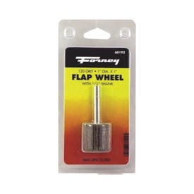 Forney 60192 Flap Wheel, 1 in Dia, 1 in Thick, 1/4 in Arbor, 120 Grit, Aluminum Oxide Abrasive