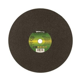 Forney 71895 Cut-Off Wheel, 14 in Dia, 1/8 in Thick, 1 in Arbor, 20 Grit, Coarse, Silicone Carbide Abrasive