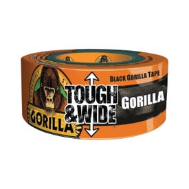 Gorilla 6003001 Tough and Wide Duct Tape, 30 yd L, 3 in W, Polymer Adhesive, Black