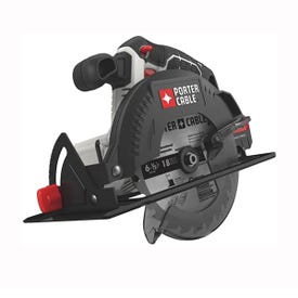 PORTER-CABLE PCC660B Circular Saw, Bare Tool, 20 V Battery, 1.3 Ah, 6-1/2 in Dia Blade, 0 to 50 deg Bevel