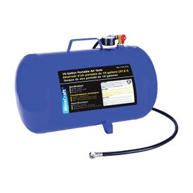 ProSource AT10 Air Tank, 10 gal Tank, 1/4 in Inlet, 5/16 in Outlet, 85 to 125 psi Pressure, Steel, 2 mm Gauge