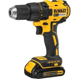 DeWALT DCD777C2 Drill/Driver Kit, Kit, 20 V Battery, 1/2 in Chuck, Ratcheting Chuck, Battery Included: Yes