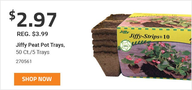 Jiffy Peat Pot Trays