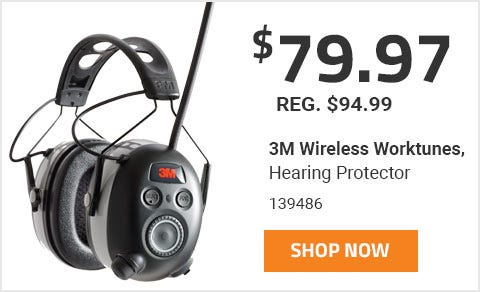 Worktunes Wireless Hearing Protector makes a great gift. On Sale for 79 Dollars and 97 Cents until June 30th 2019.