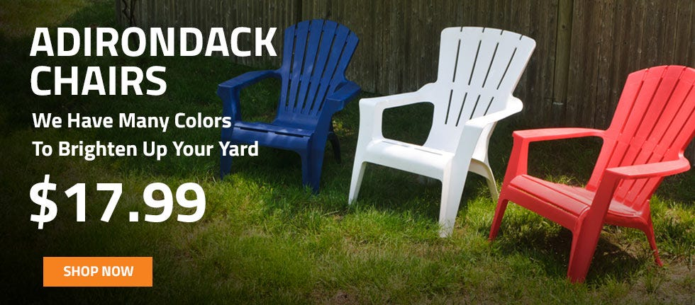 Great Prices and Great Colors on Adirondack Chairs