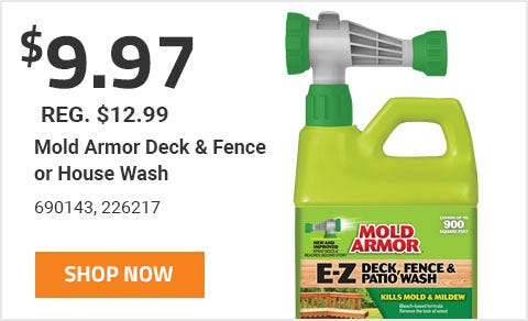 Mold Armor Deck and Fence or House Wash