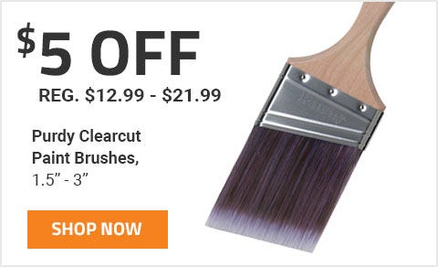 Get 5 Off Purdy Clear Cut Paint Brushes