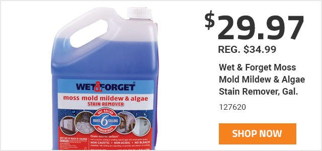 Wet and Forget Moss Mold Mildew and Algae Stain Remover
