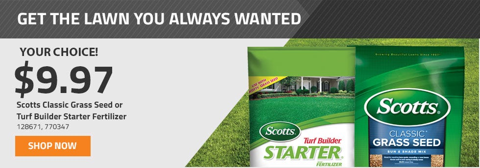 Scotts Grass Seed and Fertilizer only 9.97 Your Choice