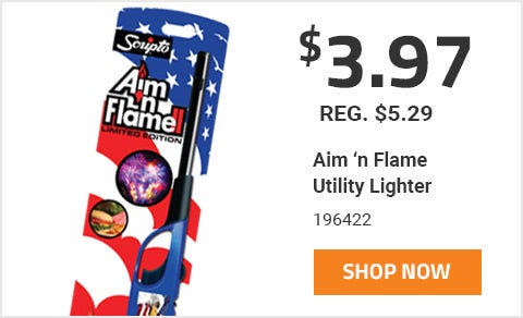 Aim 'n Flame Utility Lighter On Sale For 3 Dollars and 97 Cents