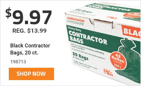 Black Contractor Bags, 20 Ct.