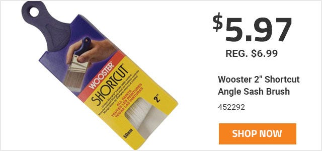 Wooster 2 Inch Shorcut Brush