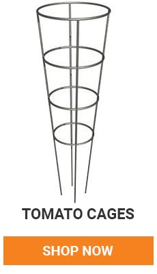 support your tomatos with tomato cages. shop now.