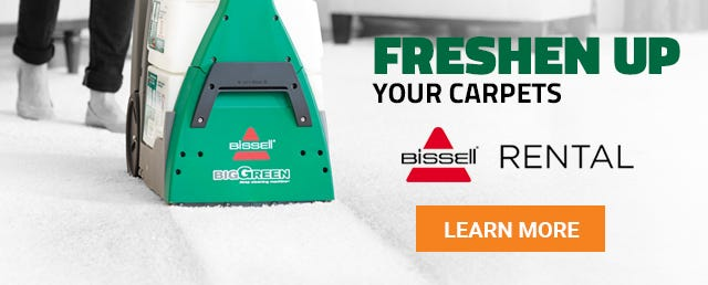 We have Bissell Deep Cleaning Carpet Machine Rentals at all of our locations. Freshen Up Those Carpets Today!