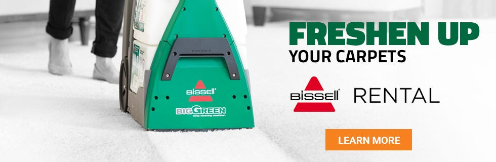 We have the Bissel Deep Cleaning Carpet Machine at all of our location. Rent one today and freshen up your carpets.