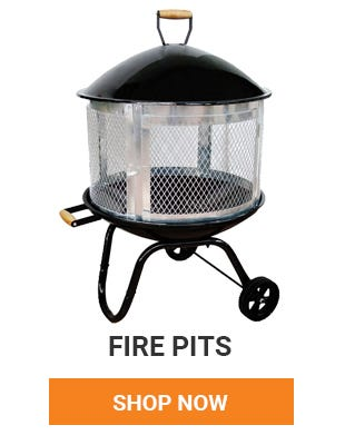 Fire pits are perfect for outdoor gatherings. Pick one up today.