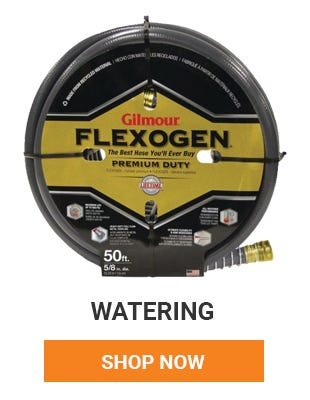 Get all your watering needs from hoses to nozzles to sprinklers. Shop Now.