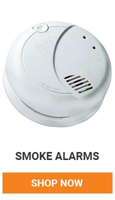 Make sure you have smoke detectors on every floor and one in every bedroom. Shope smoke alarms