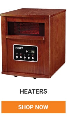 Colder tempatures means bring on the heat. We have a variety of heaters that will keep warm this winter.