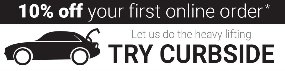 Get 10 percent off your first online order. Let us do the heavy lifting. Try Curbside.