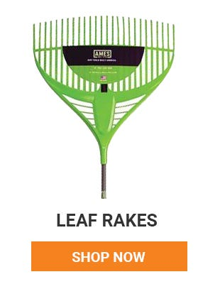 Fall is here and leaves are starting to fall. Get your leaf rakes ready. Need a new one? Pick one up today.