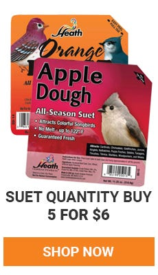 Quantity Buy on Select Suet. Buy 5 for 6 dollars. shop now.