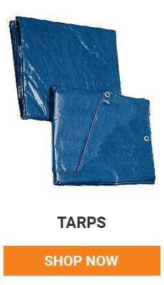Cover it up with assorted sizes of tarps. Shop Now.