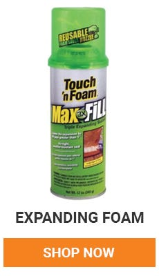 fill in those gaps in your house to help insulate for the winter. Shop expanding foam now.