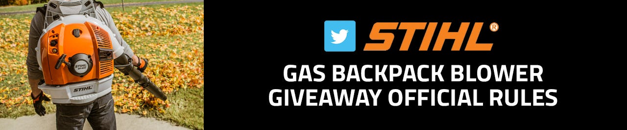 Enter to win for a chance to win a Stihl backpack blower